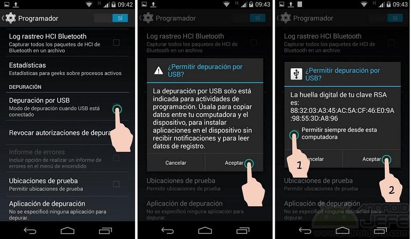 eliminar sistema de bloqueo ADB desbloquear tu android
